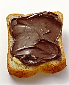 White bread and Nutella (nut and chocolate spread)