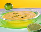 Carrot soup with lime and curry