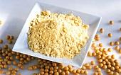 Soya flour and soya beans