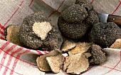 Summer truffles on tea towel