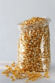 Corncobs in cellophane bag