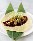 Crispy duck with pancakes (Peking duck)