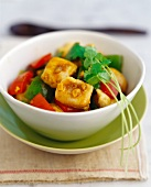 Chinese chicken curry with peppers