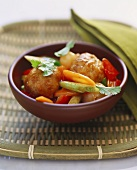 Sweet and sour pork with vegetables, Chiu-Chow style