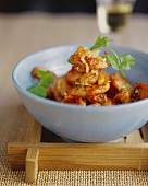 Spicy king prawns cooked in the wok (Sichuan, China)