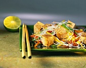 Spicy rice noodle salad with tofu