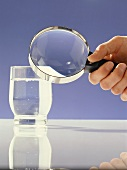 Scrutinizing a glass of water