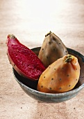 Prickly pears in a bowl