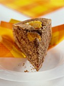Piece of orange and date cake