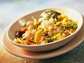 Hamburg eel stew with vegetables