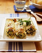 Cannelloni with courgette filling
