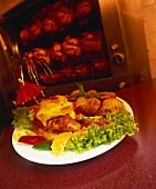 Hawaiian roast chicken with pineapple