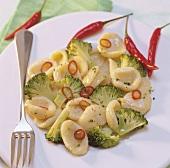 Orecchiette alla pugliese (Pasta with broccoli & chilli)