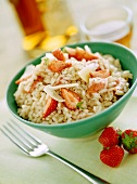 Risotto with strawberries, Calvados and Parmesan