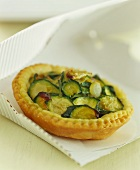 Courgette tart with puff pastry