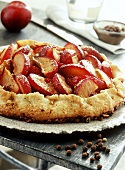 Crostata with plums and pimento