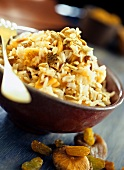 Rice with dried fruit and sunflower seeds