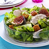 Caesar salad with figs