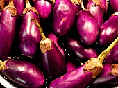 Aubergines (artistic treatment with watercolour filter)