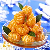 Mandarins with raisins in syrup