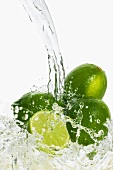 Limes in stream of water