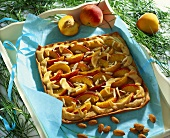 Peach tart with almonds