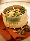 Vermicelli with spring onions and cress