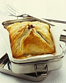 Beef Wellington (beef in puff pastry)