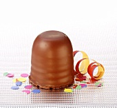 Chocolate marshmallow with Carnival decoration