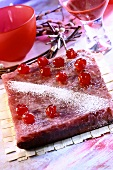 Mazurek with cherries (Easter cake from Poland)