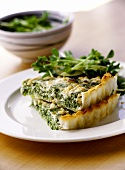 Spinach and sheep's cheese tart