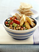 Chick-pea salad with chicken breast
