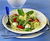 Insalata con le mozzarelline (Mozzarella with salad)