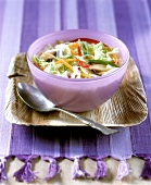 Light Asian style vegetable soup