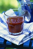 Spicy tomato sauce in glass