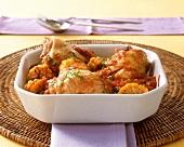 Tamarind chicken with corncobs