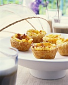 Puff pastry tarts from Portugal (pasteis de nata)