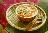 Asian shrimp soup with vegetables