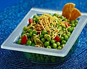 Muttar chaat (pea dish from India)