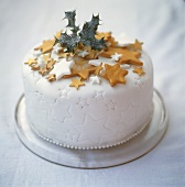 Christmas cake with star decorations