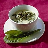 Cold sorrel soup