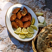 Deep-fried kibbeh (bulgur dumplings, Israel)