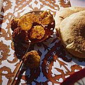 Falafel (chick-pea balls, Israel)