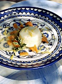 Lemon pudding with pumpkin compote, Middle East