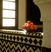 Pomegranates in Middle Eastern building