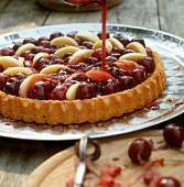 Cherry and peach tart
