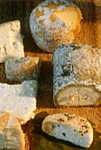 Various French soft cheeses