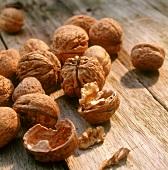 Walnuts, one opened