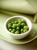 Peas in small bowl
