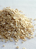 A heap of oat flakes